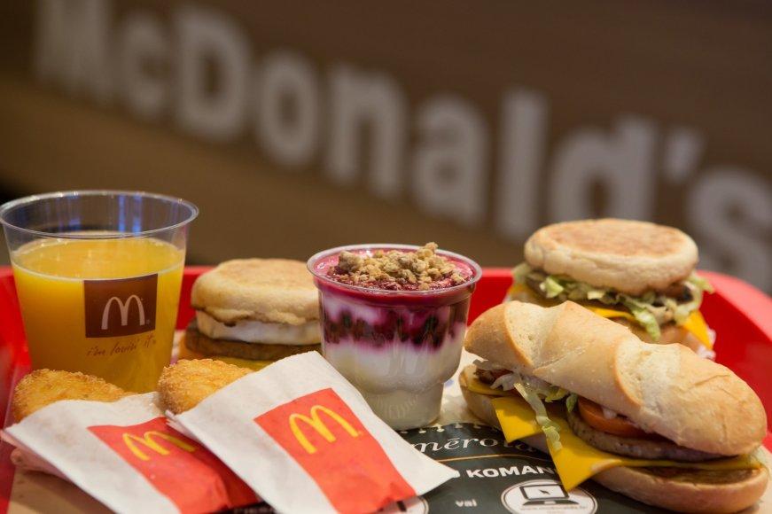 Naujas McDonald's pusryčių meniu