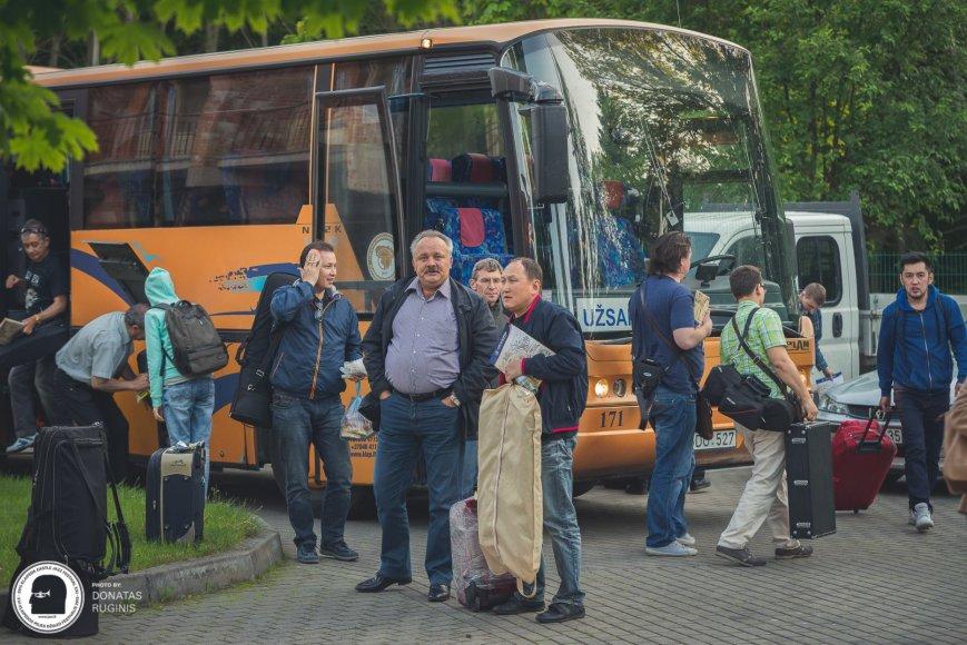 """""""Big Band"""" jau atvyko į  netrukus prasidėsiantį Klaipėdos pilies džiazo festivalį"""