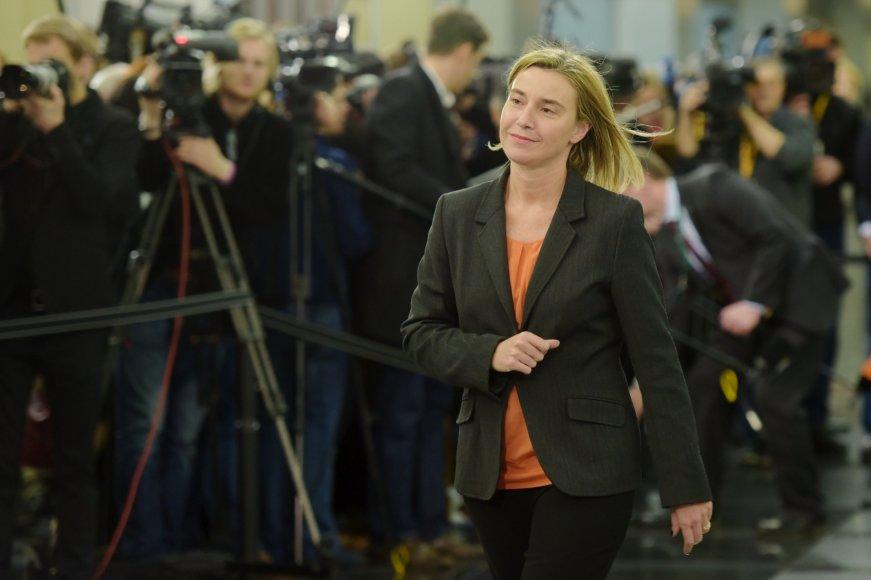 ES diplomatijos vadovė Federica Mogherini.