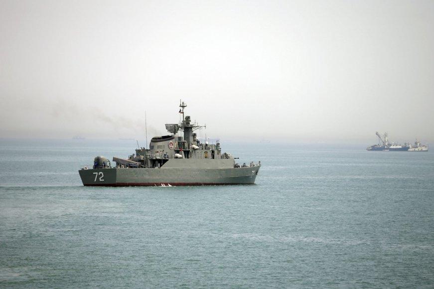 Irano karo laivas.