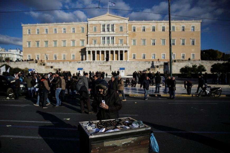 Vis daugiau graikų gyvena ties skurdo riba