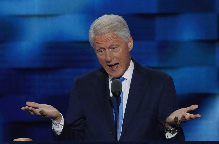 Billas Clintonas demokratų partijos suvažiavime Filadelfijoje