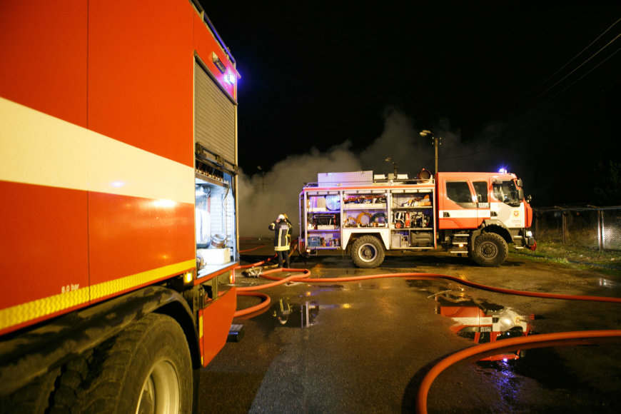 Vilkikų gaisras Kaune