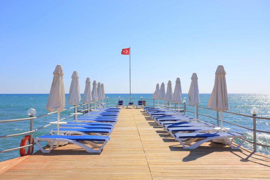 Balandis Turkijoje neužgrūstas turistais
