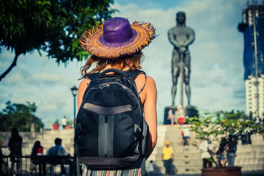 Turistė Maniloje