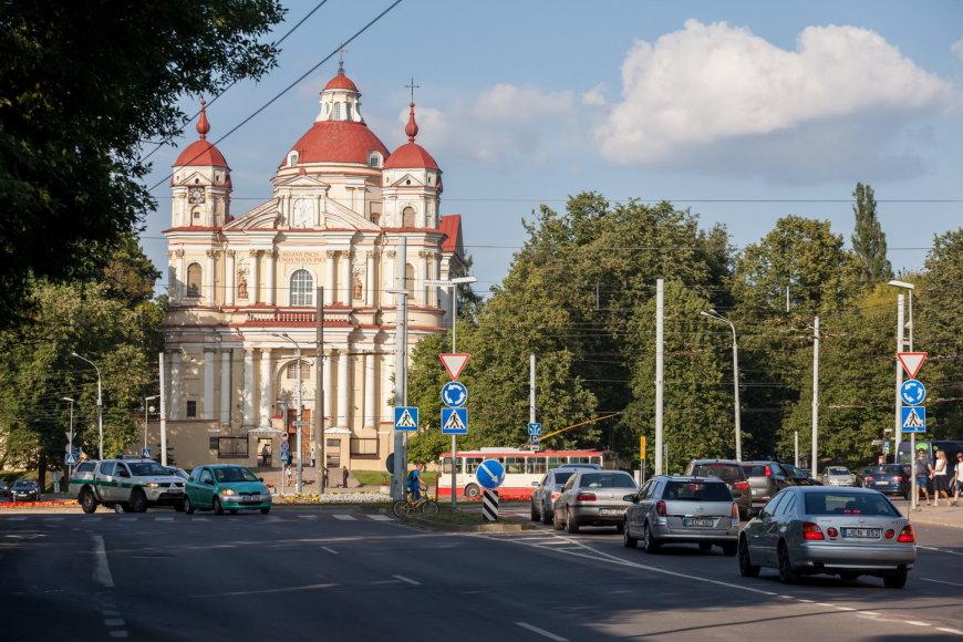 Sauliaus Žiūros nuotr./Žiedinė sankryža Vilniuje