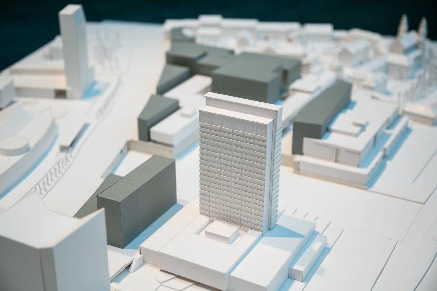 Multifunkcinio komplekso k18B architektūrinių pasiūlymų pristatymas