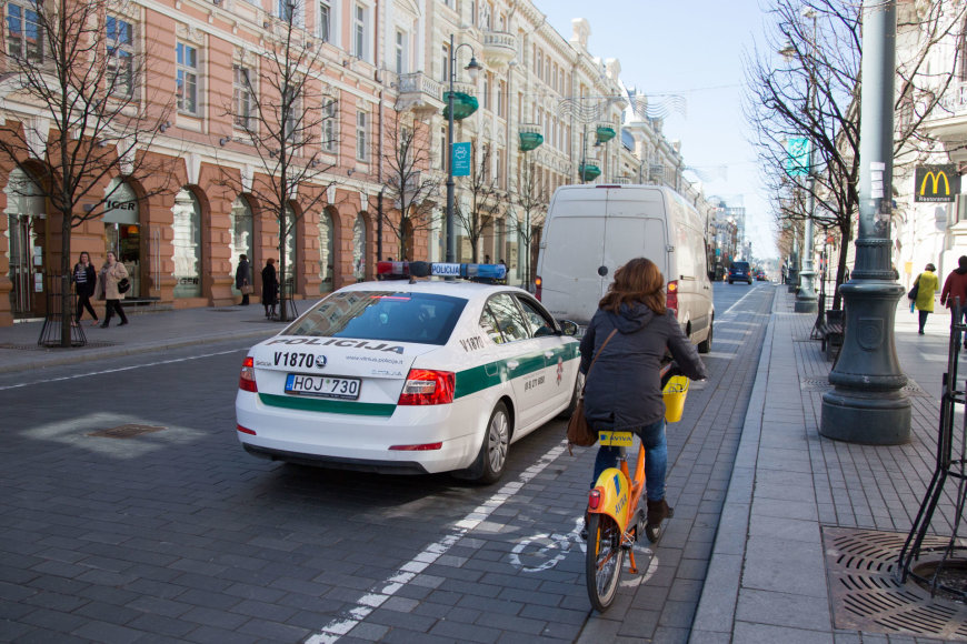 Vilniaus centre policija rūpinosi eismo saugumu