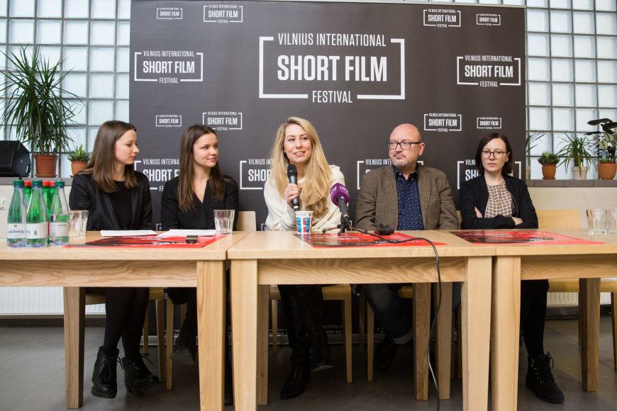 11-ojo Vilniaus taprtautinio trumpųjų filmų festivalio spaudos konferencija