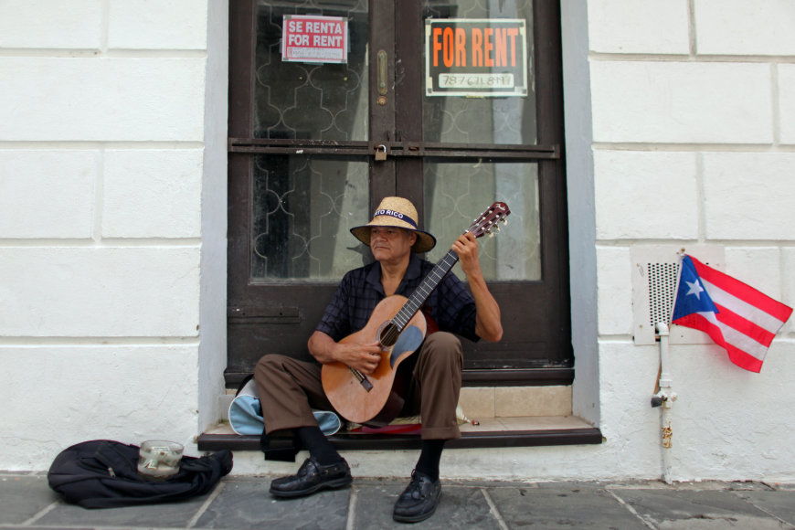 Gatvės muzikantas Puerto Rike