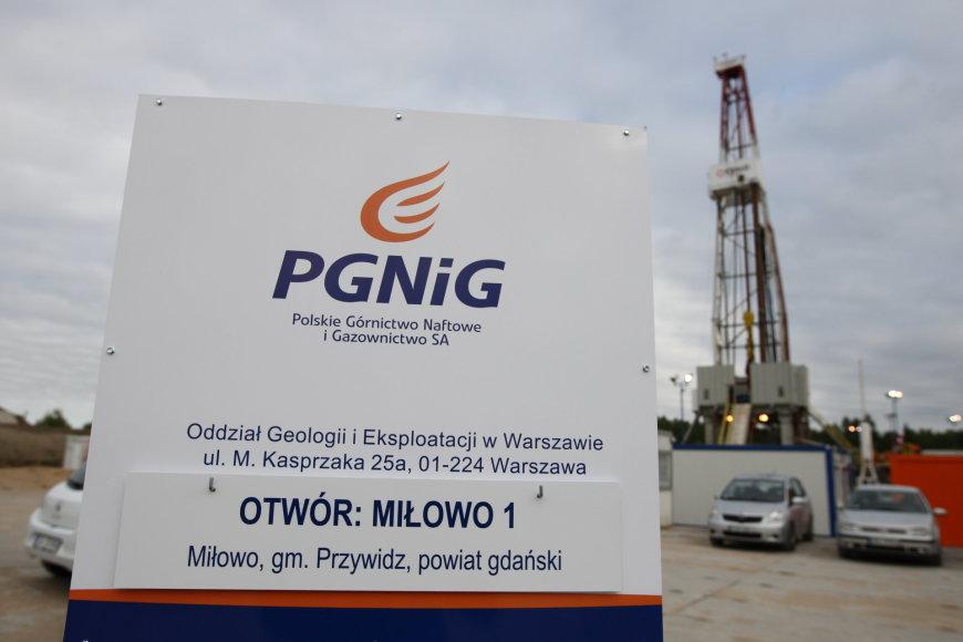 """Lenkijos dujų bendrovės """"PGNiG"""" teritorija"""