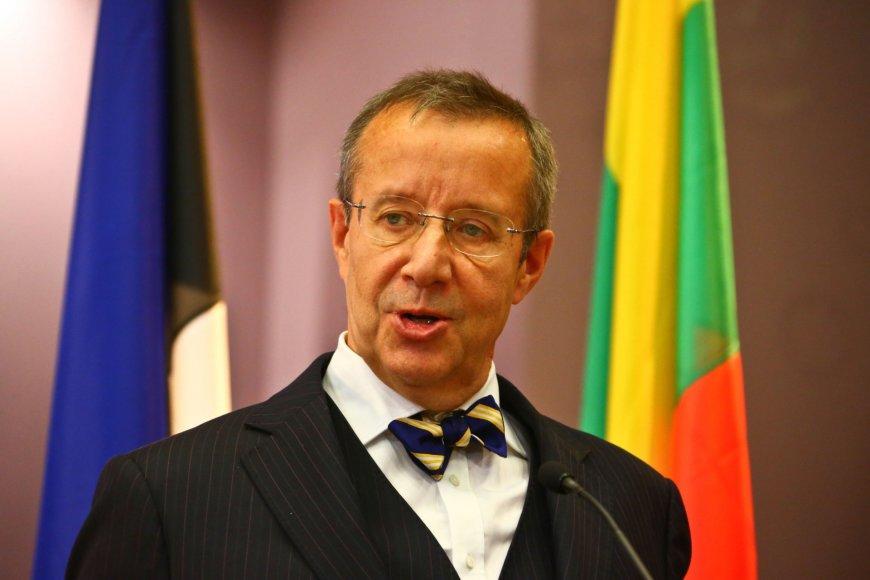 Estijos prezidentas Toomas Hendrikas Ilvesas.