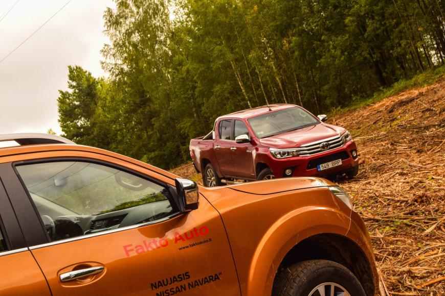 "Pikapų testas – ""Nissan Navara"" prieš ""Toyota Hilux"""