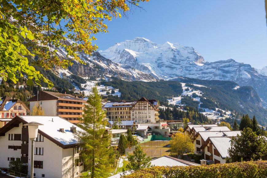Vienas žaviausių Šveicarijos miestelių – Vengenas