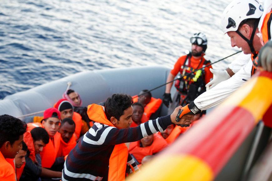 Prie Kipro išgelbėta apie 80 migrantų