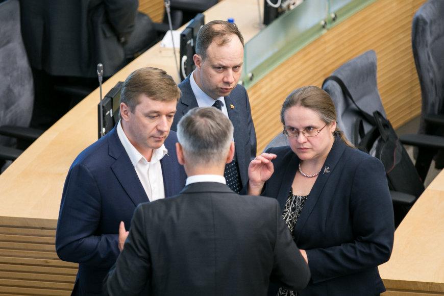 Ramūnas Karbauskis, Aurelijus Veryga ir Agnė Širinskienė