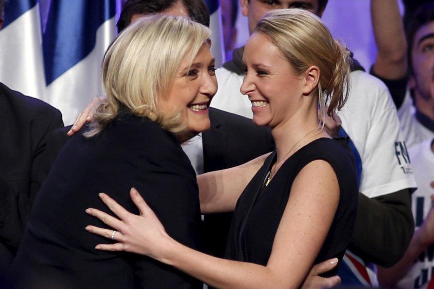 Marine Le Pen ir Marion Marechal Le Pen