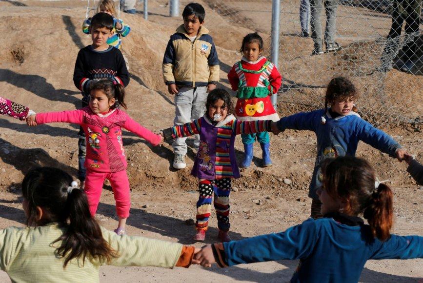 Vaikai pabėgėlių stovykloje Irake