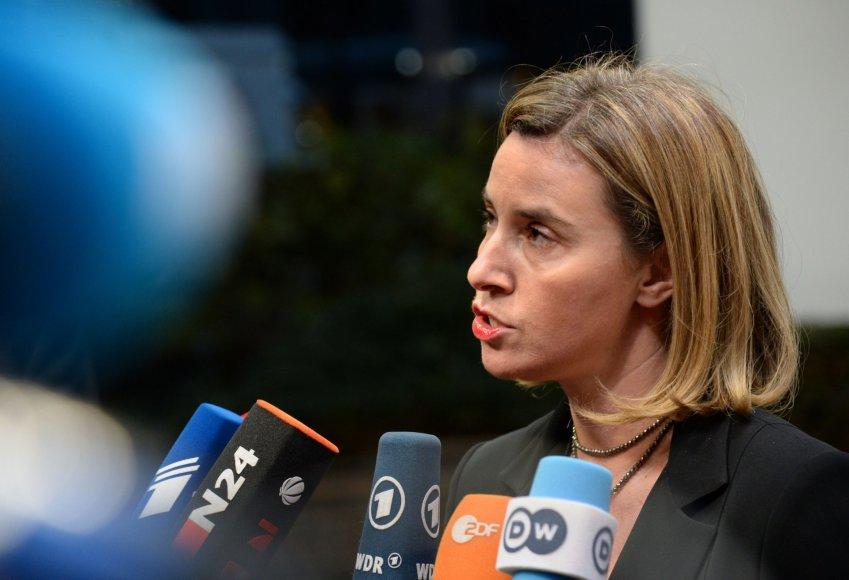 ES užsienio politikos vadovė Federica Mogherini.