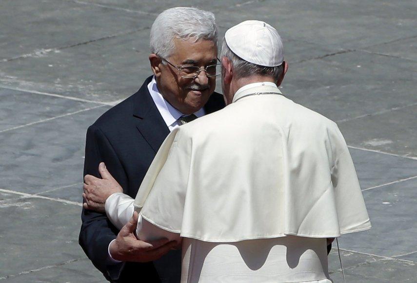 M.Abbasas ir popiežius Pranciškus Vatikane.