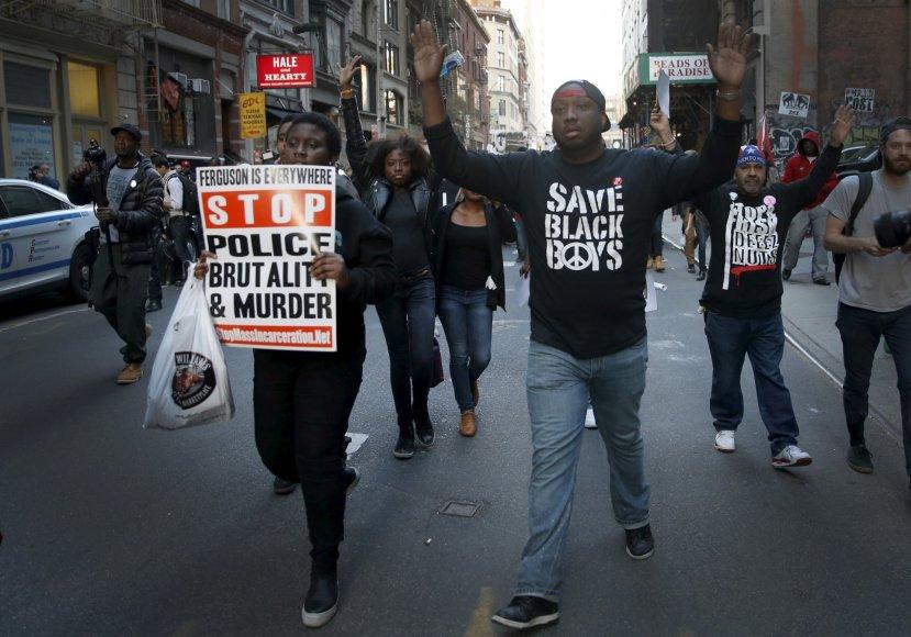 Protestas Niujorke.