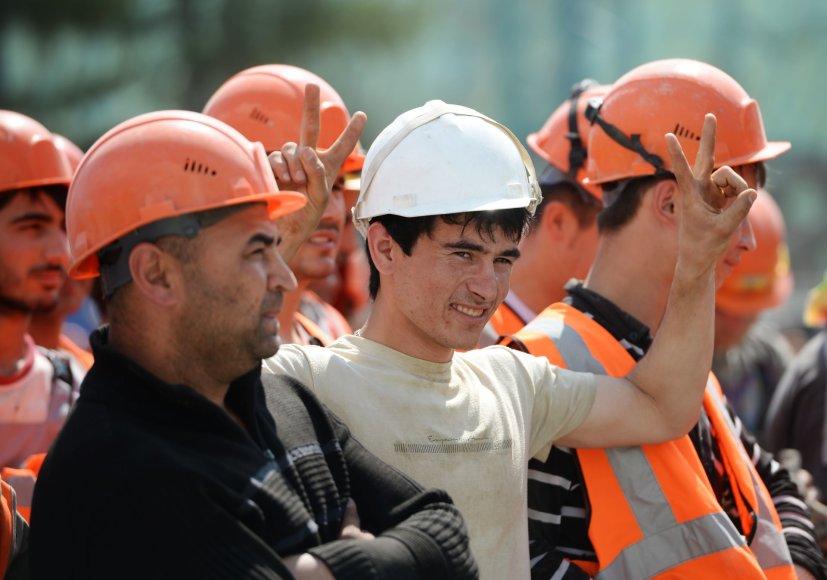 Iš Vidurio Azijos atvykę darbininkai Jekaterinburge