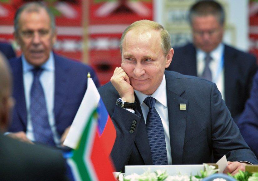 Vladimiras Putinas per BRICS šalių viršūnių susitikimą Ufos mieste Rusijoje