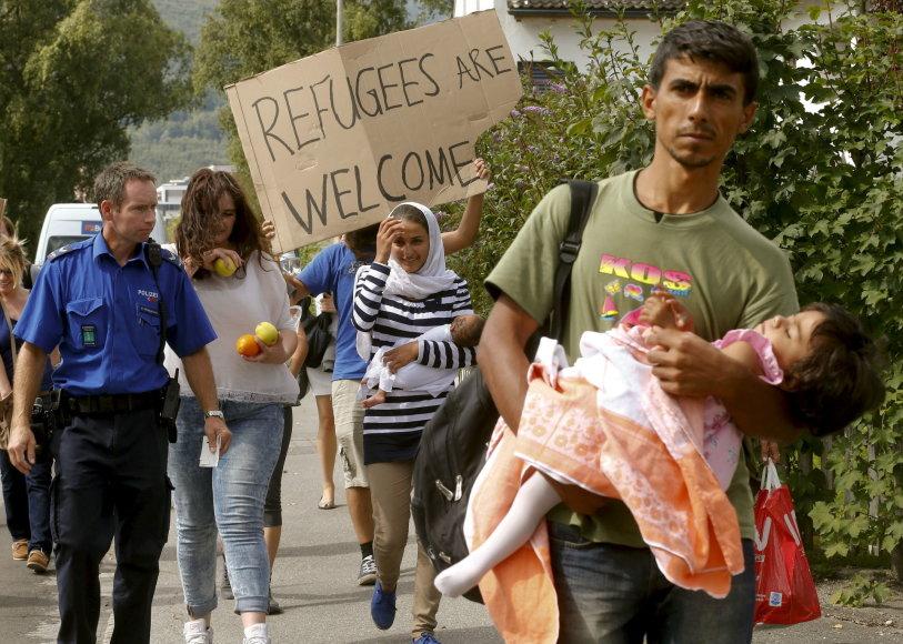 Migrantai Šveicarijoje