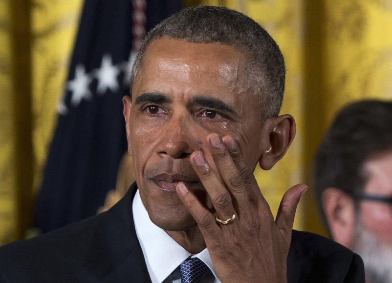 JAV prezidentas Barackas Obama kalba apie šaudynių šalyje prevenciją