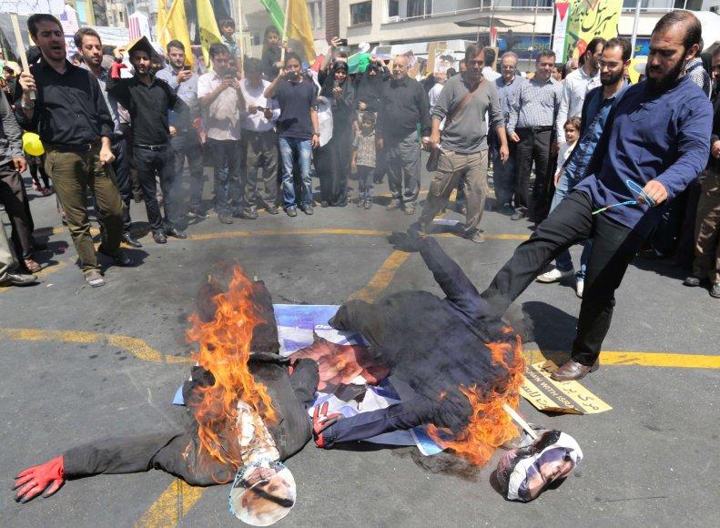 Prieš Izraelį nukreipta demonstracija Irane