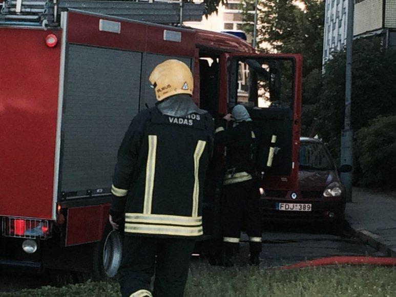 Gaisras Tuskulėnų gatvėje Vilniuje