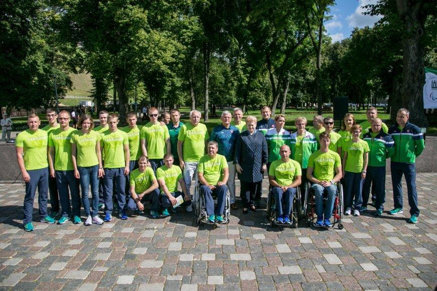 Lietuvos sportininkų palydėtuvės į Rio de Žaneiro Parolimpines žaidynes