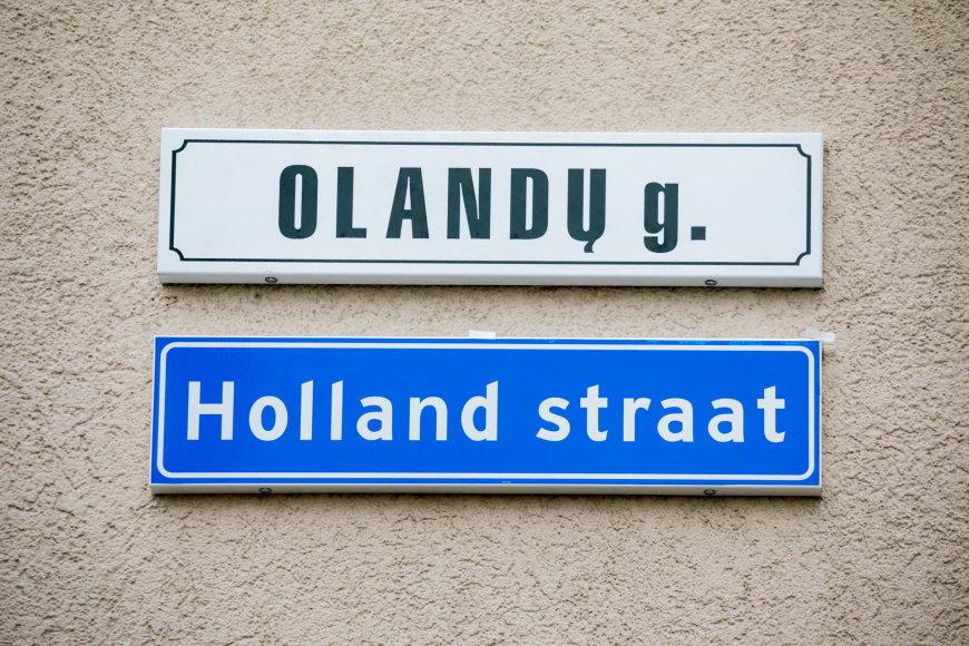 Vilniuje atidengta gatvės lentelė olandų kalba