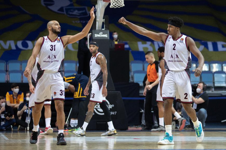 Euroleague.net nuotr./Shavonas Shieldsas ir Zachas LeDay