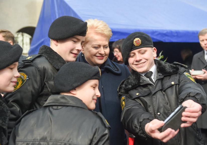 Dalia Grybauskaitė priėmė Generolo Povilo Plechavičiaus mokyklos kadetų priesaikas