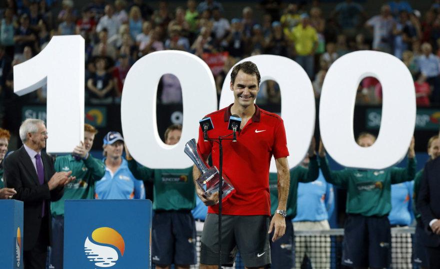 Rogeris Federeris iškovojo 1000-ąją karjeros pergalę
