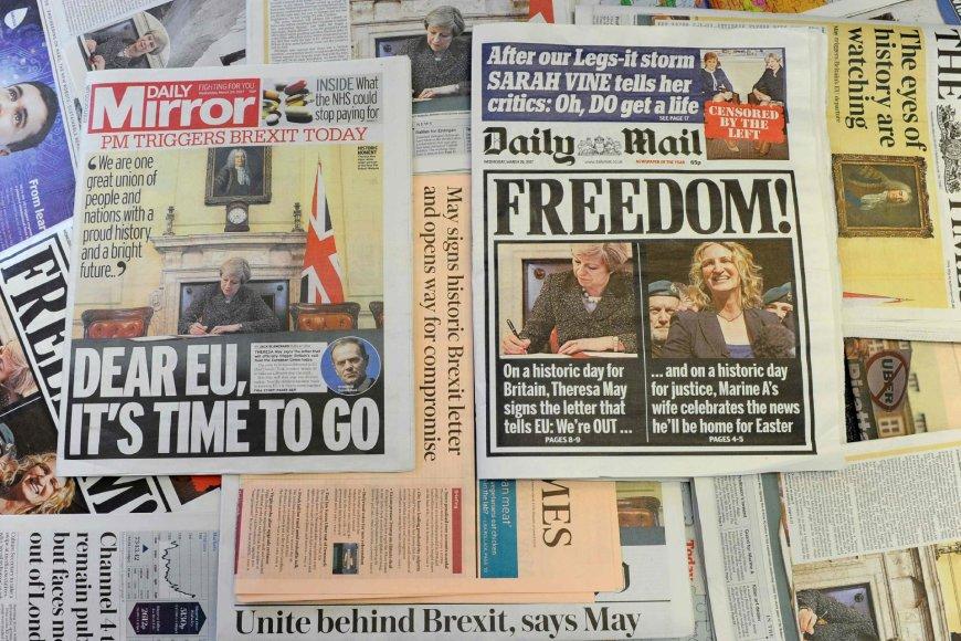 """Didžiosios Britanijos spauda rašo apie """"Brexit"""""""