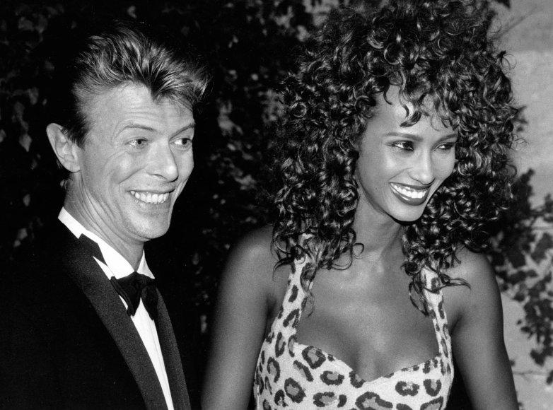Vida Press nuotr./Davidas Bowie ir Iman (1991 m.)