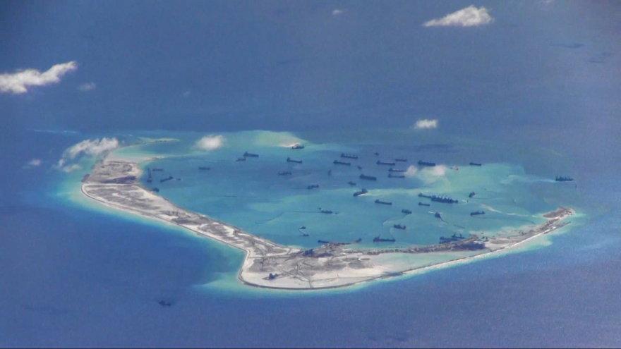 Kinijos vykdomos statybos Pietų Kinijos jūroje