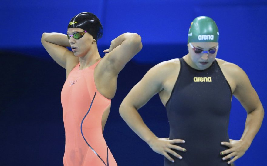 Julija Jefimova ir Rūta Meilutytė