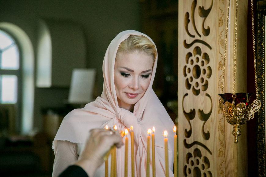 Natalija Bunkė sūnaus Kristupo krikštynose