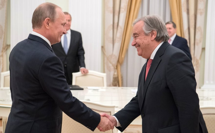 V.Putinas ir A.Guterresas
