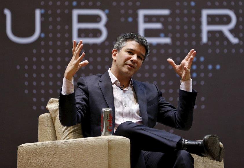 """""""Uber"""" vadovas Travisas Kalanickas"""