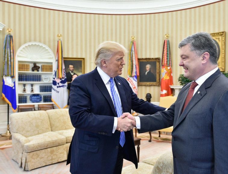Donaldas Trumpas ir Petro Porošenka