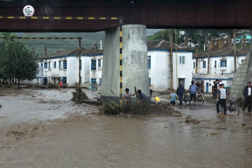 Potvynis Šiaurės Korėjoje