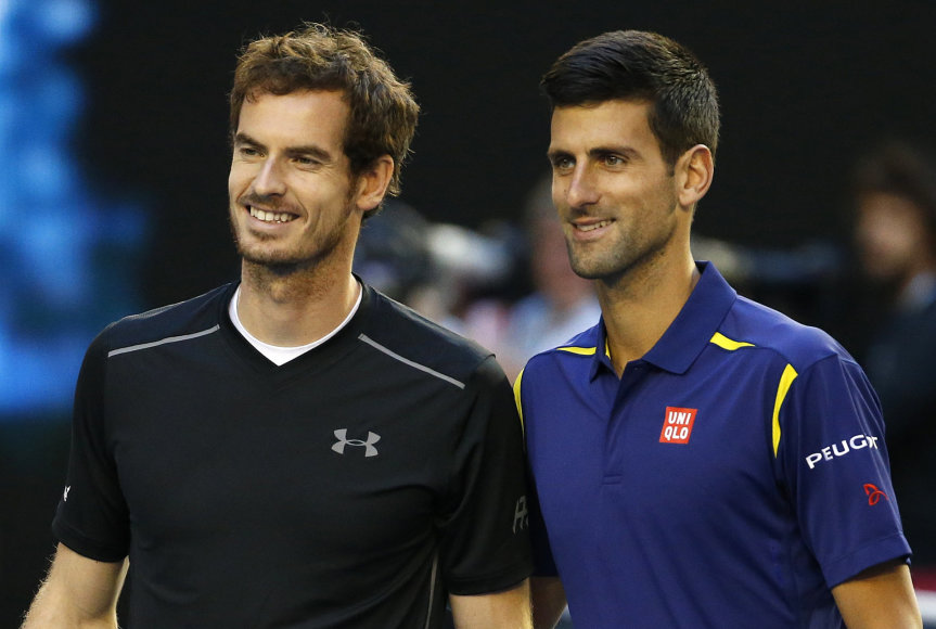 Andy Murray ir Novakas Džokovičius