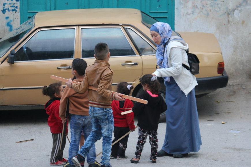 Projekto su Palestinos paaugliais dalyviai Betliejuje