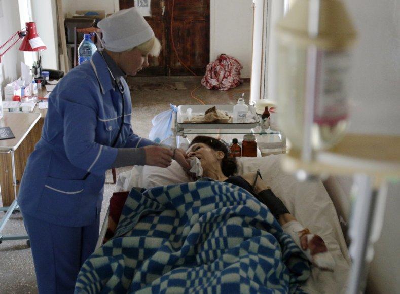 Avdijivko ligoninė, į kurią vežami ir sužeisti gamyklos darbuotojai