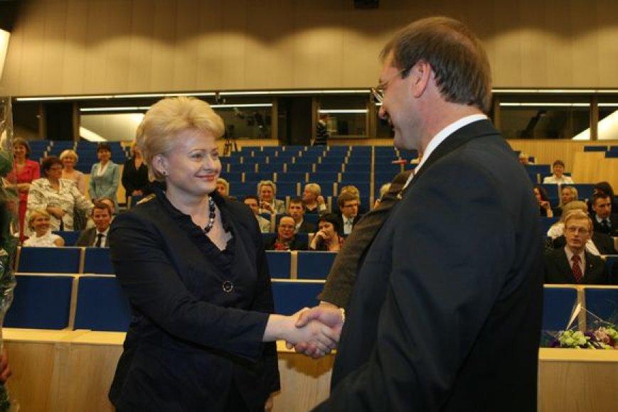 Dalia Grybauskaitė ir Viktoras Uspaskich