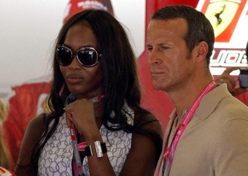 Britų modelis Naomi Campbell ir rusų billionierius Vladimiras Doroninas.
